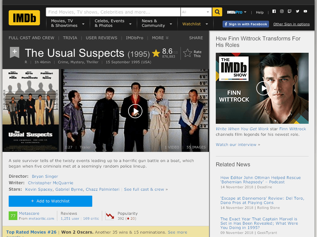 The Usual Suspects Movie FREE