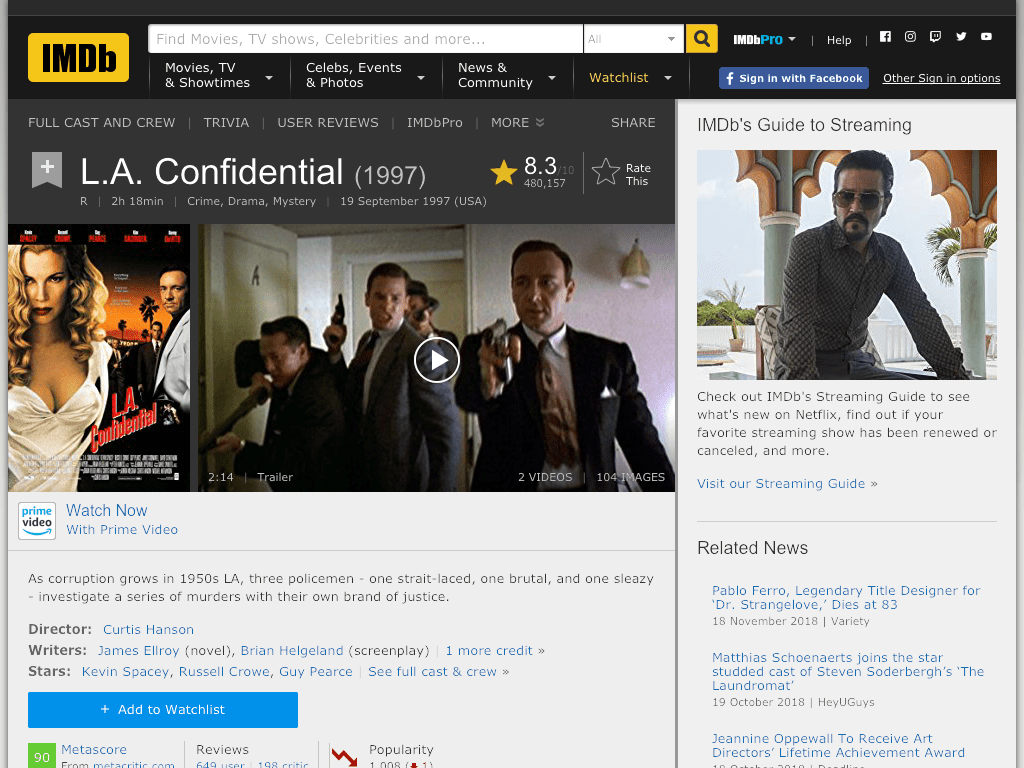 L.A. Confidential Movie FREE