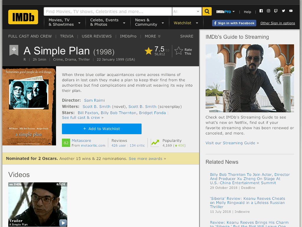 A Simple Plan Movie FREE