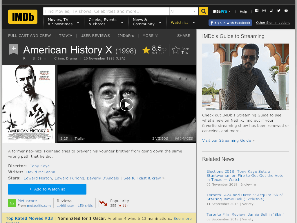 watch american history x online free