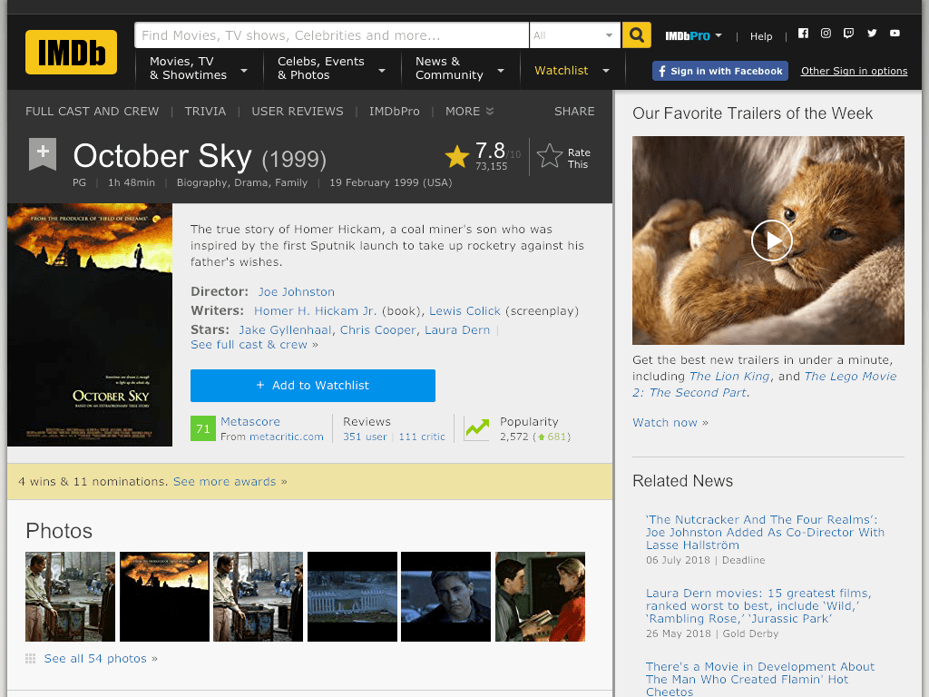 October Sky Movie FREE