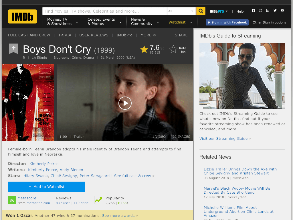 Boys Don't Cry Movie FREE
