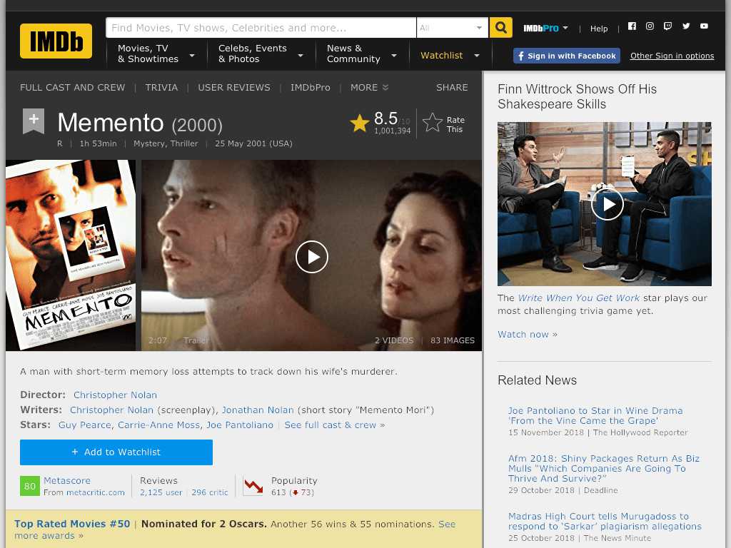 Memento Movie FREE