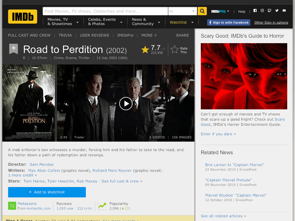 Road to Perdition Movie FREE