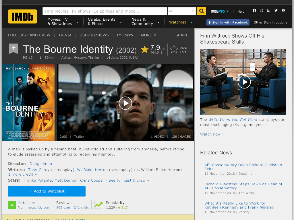 The Bourne Identity Movie FREE