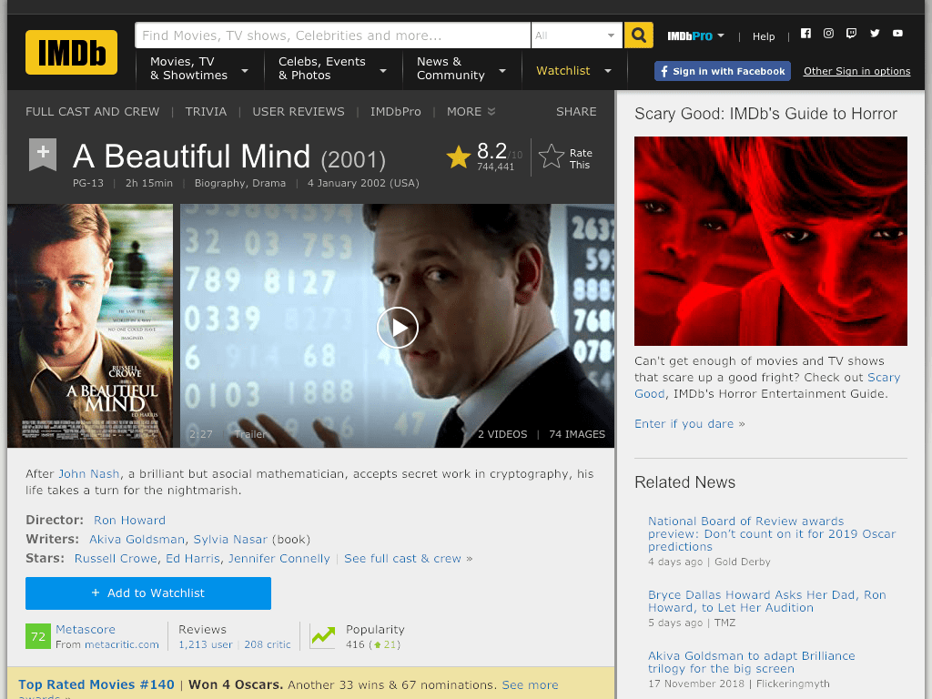 A Beautiful Mind Movie FREE