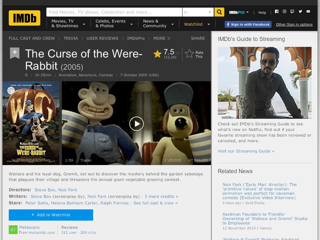 The Curse of the Were-Rabbit Movie FREE