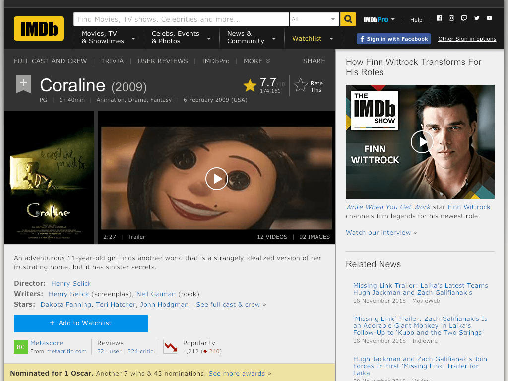 Coraline Movie Watch Online And Download Free
