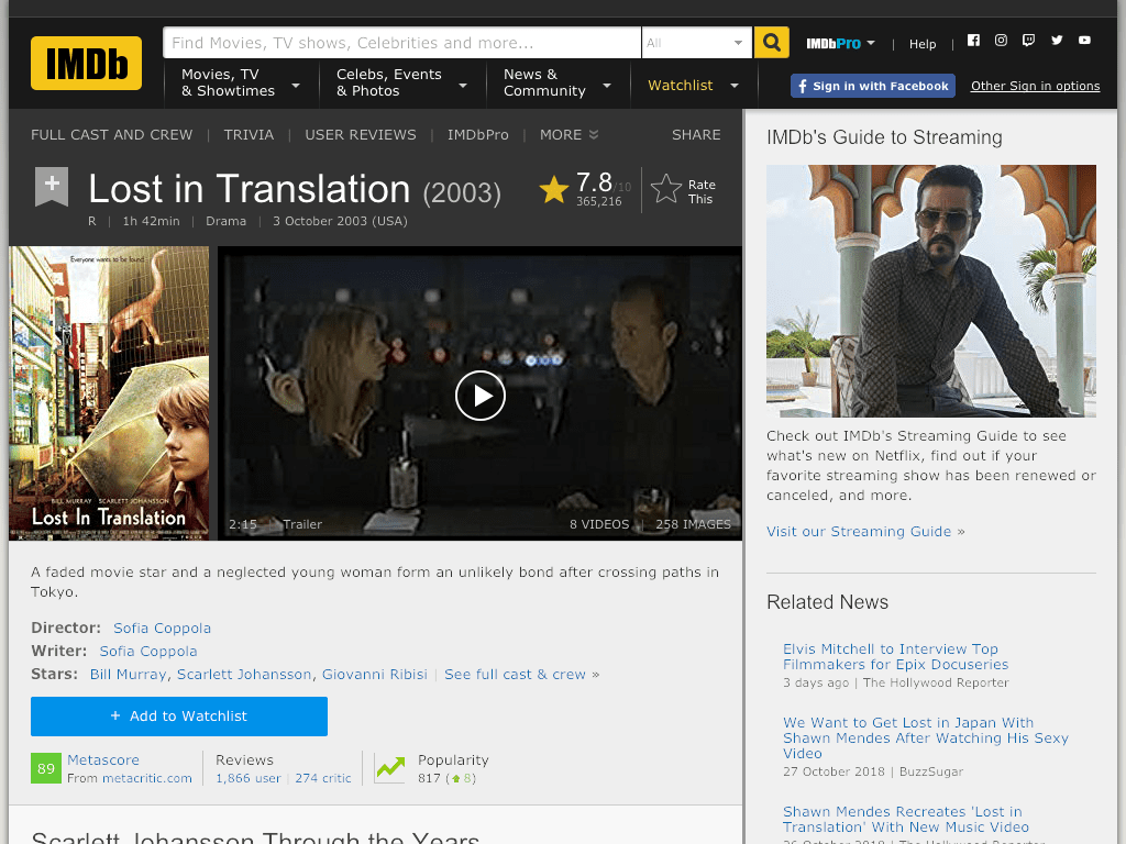 Lost in Translation Movie FREE