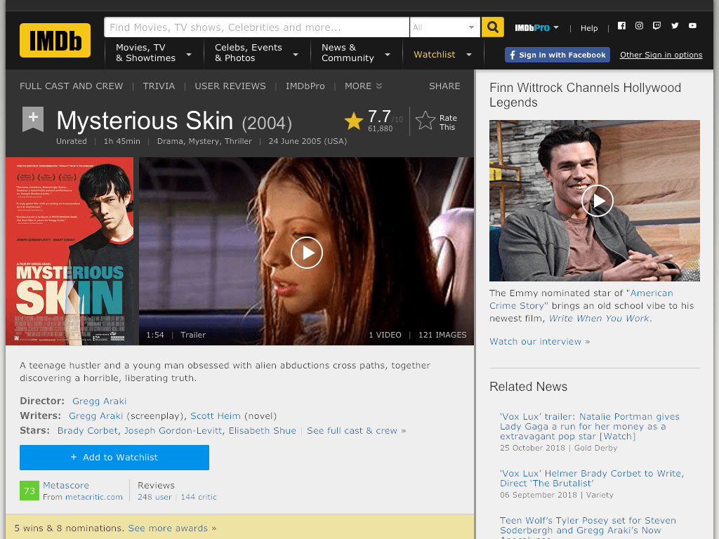 Mysterious Skin Movie FREE