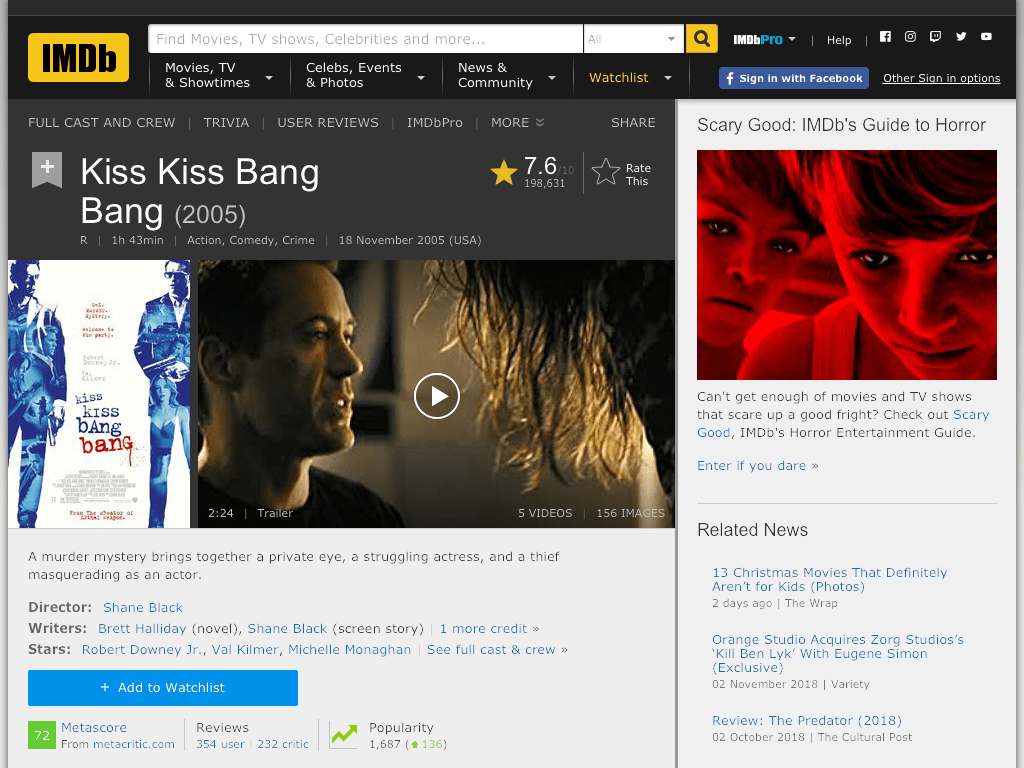 Kiss Kiss Bang Bang Movie FREE