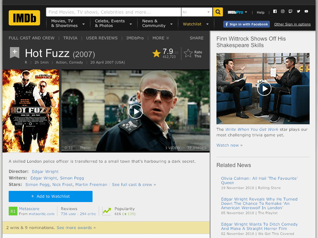 Hot Fuzz Movie FREE