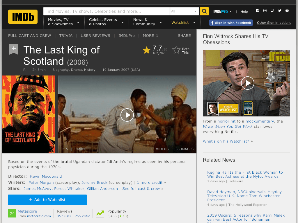 The Last King of Scotland Movie FREE
