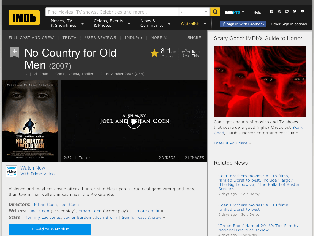 No Country for Old Men Movie FREE