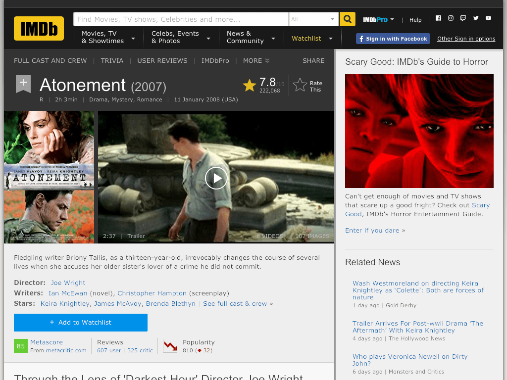 Atonement Movie FREE