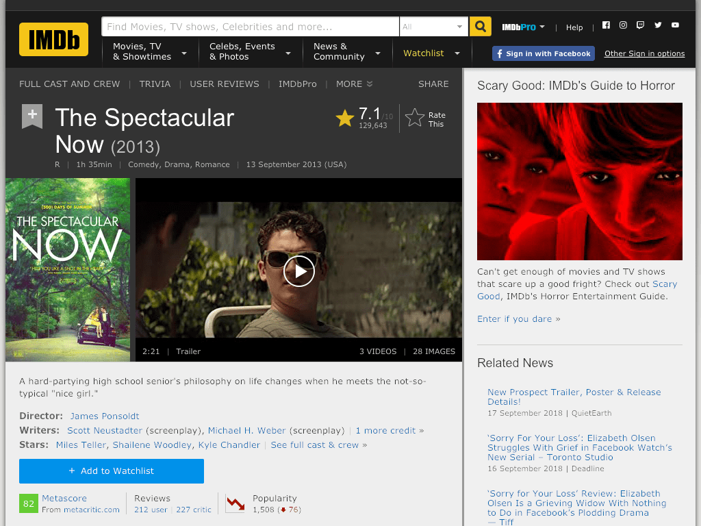 The Spectacular Now Movie FREE