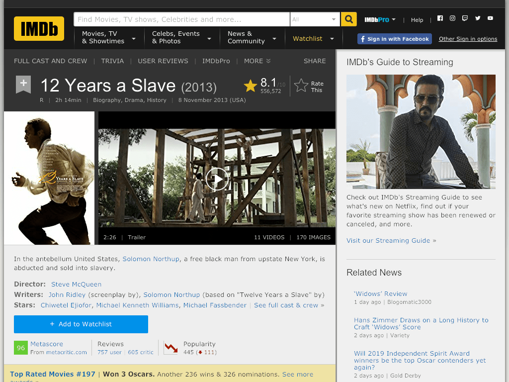 12 Years a Slave Movie FREE