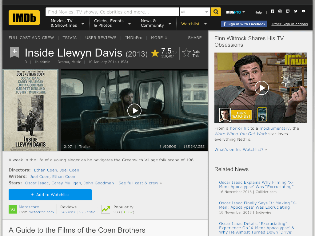 Inside Llewyn Davis Movie FREE