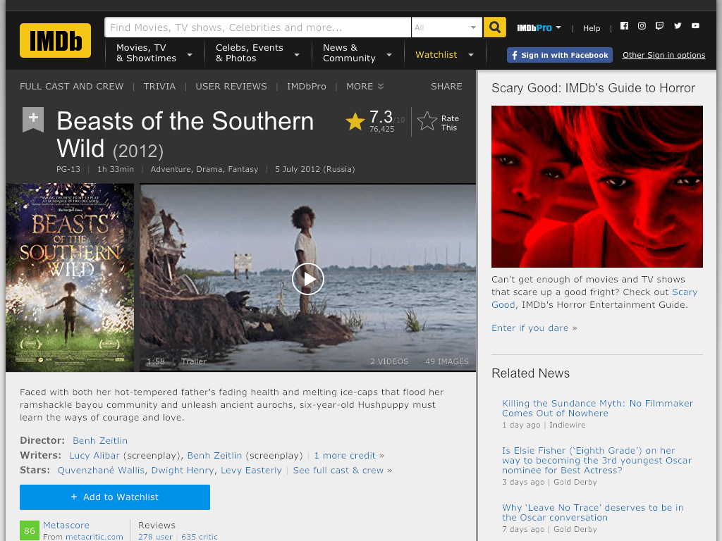 Beasts of the Southern Wild Movie FREE