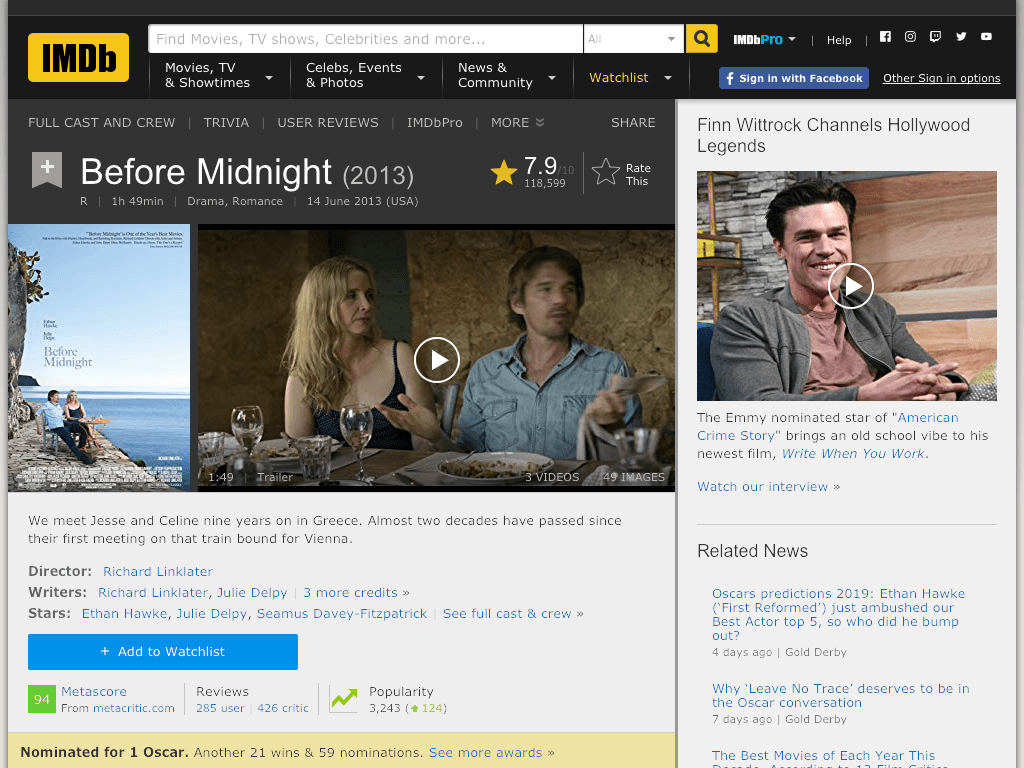 Before Midnight Movie FREE